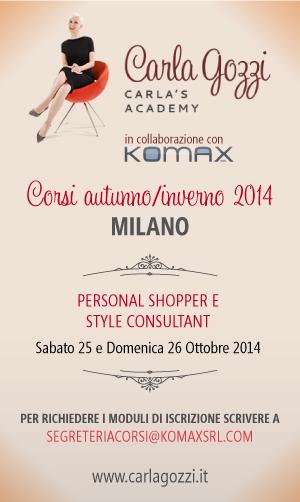 Carla's Academy - Nuovi corsi autunno 2014 - Milano