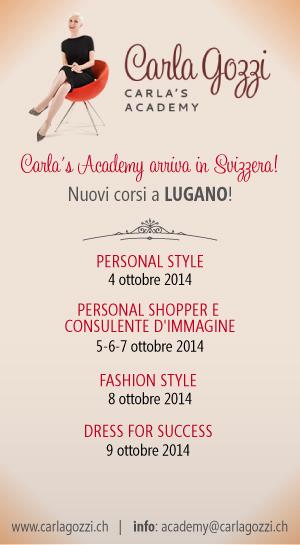 Carla's Academy - Nuovi corsi autunno 2014 - LUGANO