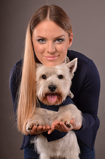 Westie and girl