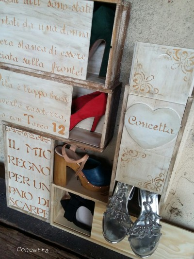 Carla Gozzi Cassette in legno