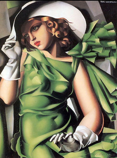 Young lady with gloves - Tamara De Lempicka
