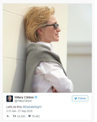 Courtesy of @HillaryClinton on Twitter