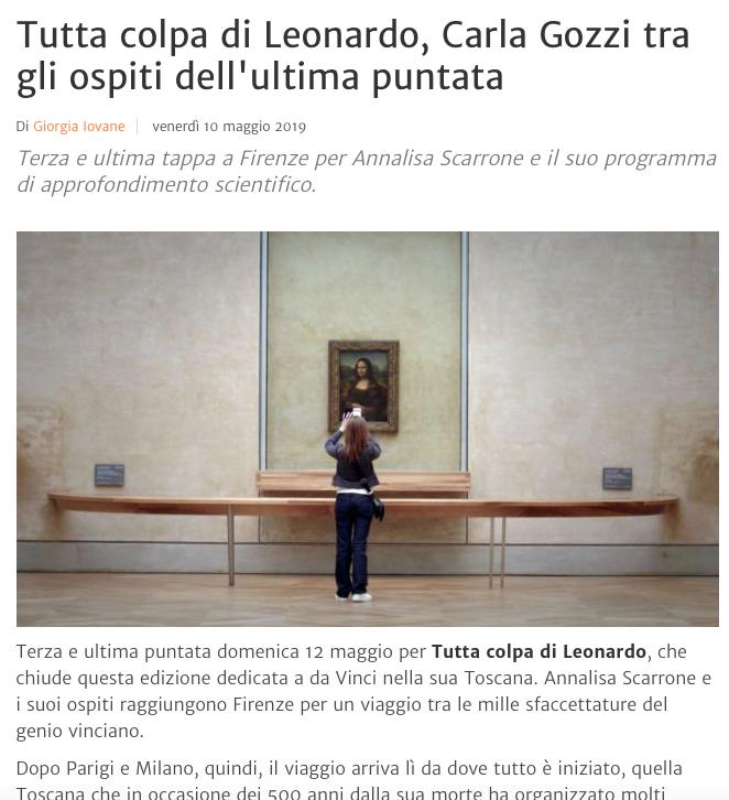 Tutta colpa di Leonardo