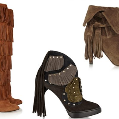 FRINGE BOOTS. The fall's passion.